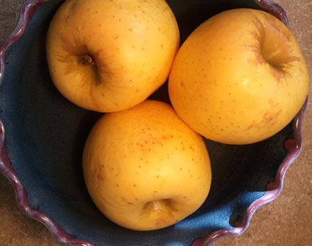 Over-ripe Mutsu Apples